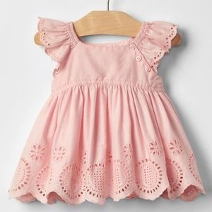 Baby Gap NWT 12-18 Pink Flutter Sleeve Swing Top